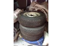 VW Type 2 Wheels and Tyres
