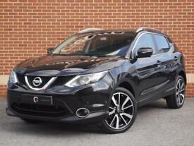 2014 14 Nissan Qashqai 1.2 DIG-T Tekna 5dr (Black, Petrol)