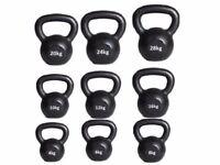 Cast Iron Kettlebells, Cast Iron, From only £8.00 Free Workout DVD 4kg- 50kg Kettlebells: NEW