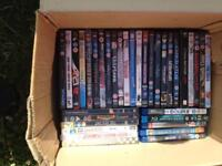 Joblot of DVDs and blue rays
