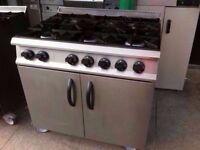 6 BURNER GAS COMMERCIAL COOKER + CATERING OVEN MACHINE KITCHEN DINER TAKEAWAY SHOP PUB BAR CAFE