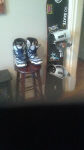 Snow board, boots and bindings