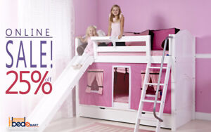 FREE SHIPPING/CA_SALE 25%OFF MAXTRIX LOFT & BUNK BEDS_SOLID WOOD