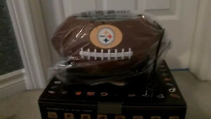 BRAND NEW STEELERS TOASTER AND LEATHER WALLET AND BEER OPENER