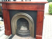 Fireplace and surround.