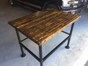 Hardwood Butcher Block Table