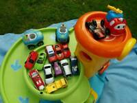 ELC garage with cars
