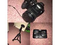 Fujifilm camera, tripod, digi camera