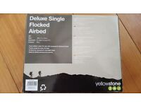 Deluxe single flocked airbed brand new