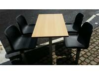 Commecial table and chairs ideal for fast food