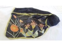 Hand painted silk scarf, designed by Maria Mile, pure silk