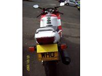"""Honda CBR 600 with registration """"WHO"""""""