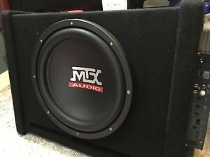 """MTX 10"""" Subwoofer and Amp"""
