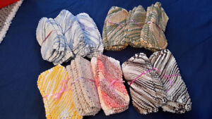 Knitted Dish Cloths in  Bundles of 3