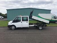 2014 14 PLATE FORD TRANSIT 125 T350 CREW CAB TIPPER