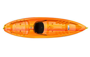 Pelican Sport Sentinel 100X sit on top kayaks in orange
