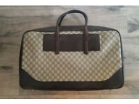 Authentic Gucci 4805 Vintage Duffle Travel Gym Suitcase Carry On Luggage bought from Selfridges