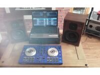 Pioneer ddj sb controller nad amp and technics speakers