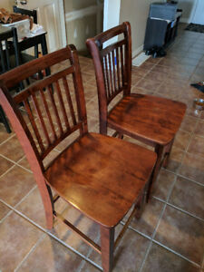 2 Bar style chairs