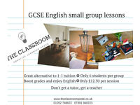 GCSE English tutor. Small group class and 1-1 sessions.