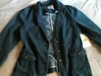 Women's denim blazer and jacket size 12-14