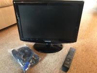 19 inch Samsung Digital HD Ready TV with remote
