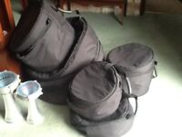 Drum Cases, like new, well padded, Fusion Kit Sizes.