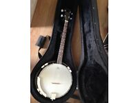 Countryman Tenor Banjo with Hard Case New