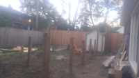 Post holes for fence decks ect