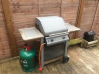 Duel Gas Burner BBQ with huge gas bottle