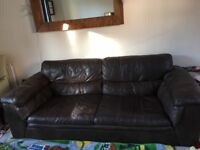 Free leather sofa, to be collected asap