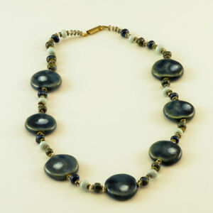 New, fair trade, hand painted ceramic necklace
