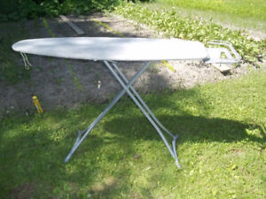 Metal Ironing Board, Iron Stand, Adjustable Height, Slip Cover