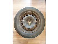 4 x Used Steel Wheels 16 in with tyres (full size) - from Citroen C5
