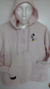light pink Disney Minnie Mouse hoodie with zipper front XL- 2XL