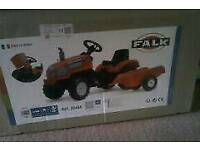Brand new in box Falk Pedal Tractor & Trailer Ride On