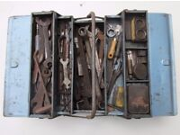 Metal Box full of Spanners, Drill bits and much more