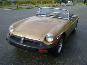 1975 mgb roadster convertable 4 speed