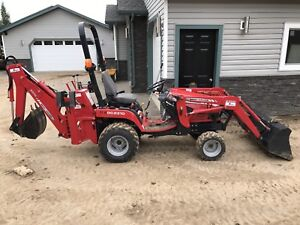 Massey Ferguson GC2310 Tractor. Snow Blower, Back Hoe & Bucket