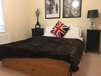 Solid wood queen size bed with storage