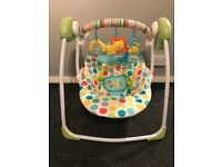 Baby portable chad valley swing chair