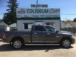 2015 Dodge Ram 1500 LIMITED LONGHORN, 4X4, LEATHER. LOADED, 70KM
