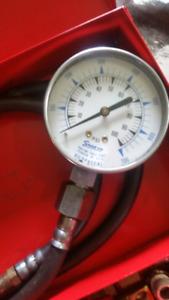 Snap on pressure gauge and no name power steering pressure gauge