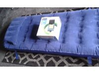 Camping Electric Mobile Mains Kit - High Gear and single air bed with pillow