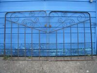 Wrought iron double gates (pair) and a matching single gate - all 1 inch steel