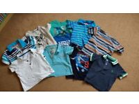 Boys t-shirts and polo shirts, age 12-18 months, pack of 10, smoke and pet free house