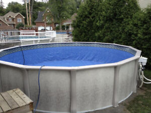 salt system 21 foot above ground pool WITH HEATER !