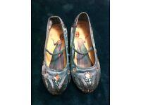 Frozen Glitter and Sequin Heels - Size 11-12