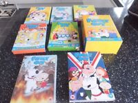 Family Guy DVDs seasons one to twelve