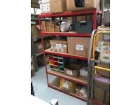 Heavy Duty Warehouse Racking in Excellent condition 120 x 180 x 45 CM Red Metal Racking Shelving
